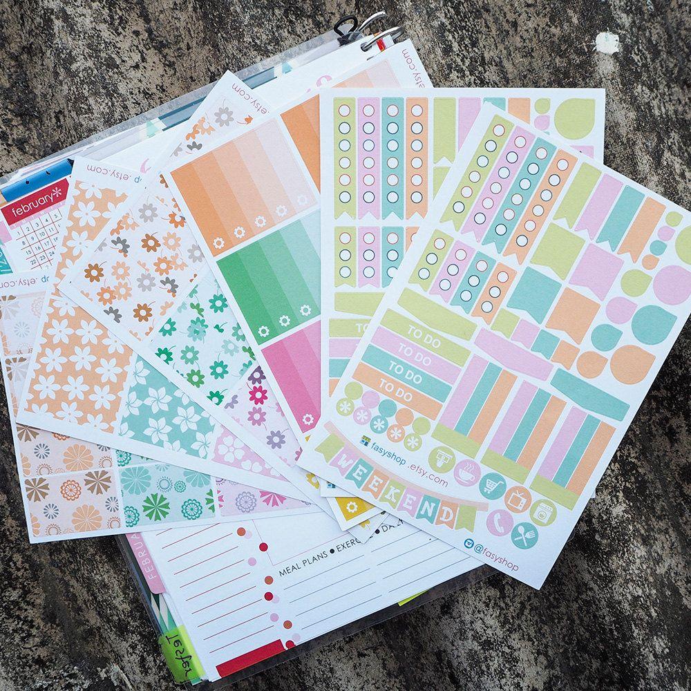 nautical bonanza essential kits sticker planner // perfect for erin