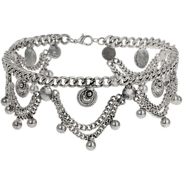 TOPSHOP Drape Chain Choker (340 MXN) ❤ liked on Polyvore featuring jewelry, necklaces, accessories, chokers, silver, choker necklace, choker jewelry, ball chain jewelry, ball chain choker and curb chain necklace