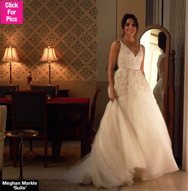 Meghan Markle Dazzles In A Wedding Gown On Suits Prepping For Prince Harry Embroidered Wedding Dress Bridal Gowns Wedding Gowns