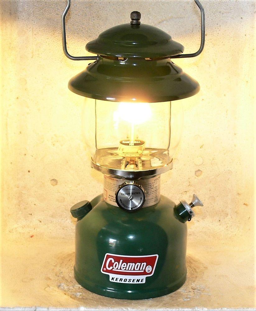 Usa Coleman 201 Kerosene Lantern Working Great 12 81 Carry Case With Instr Kerosene Lanterns Coleman Lantern