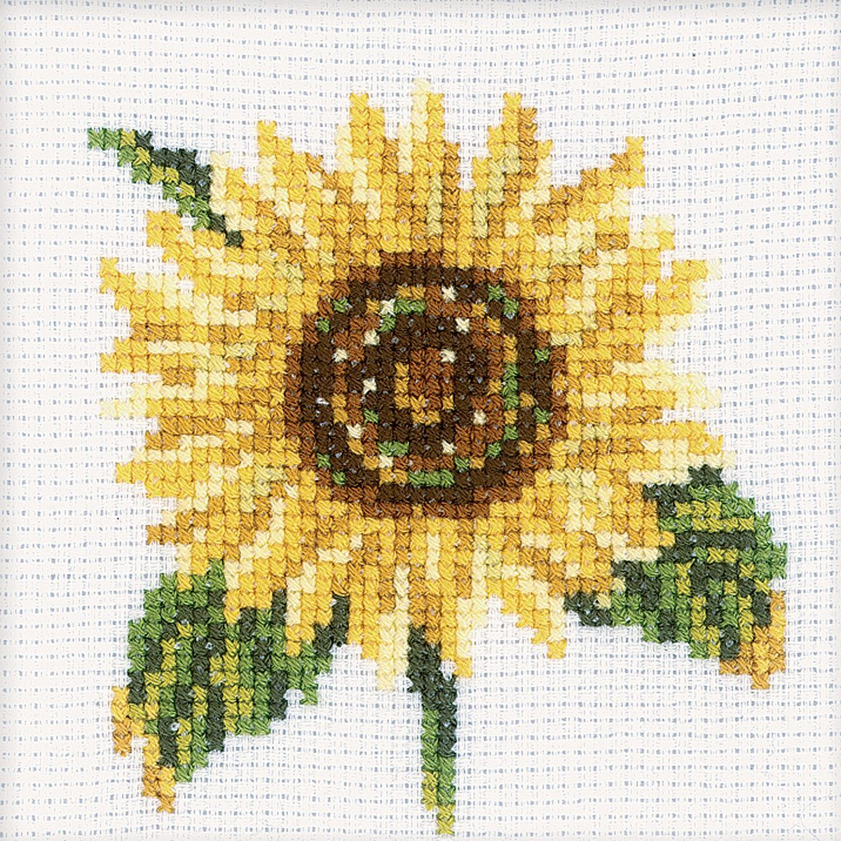 RTO-Cross Stitch Kit. This little kit will allow you to create a beautiful flower design that will make a great decoration for any room of the house once you have completed it. This package contains c
