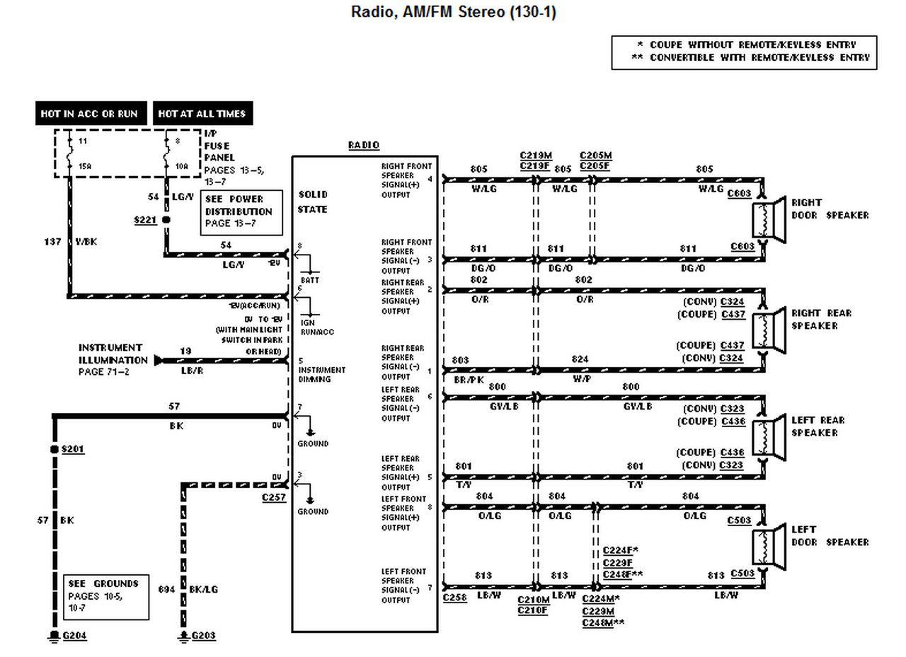 2001 Ford Mustang Radio Wiring Diagram