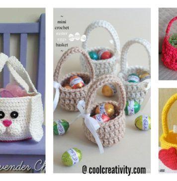 Crochet Easter Basket Free Patterns | Velikonoce | Pinterest | Ganchillo