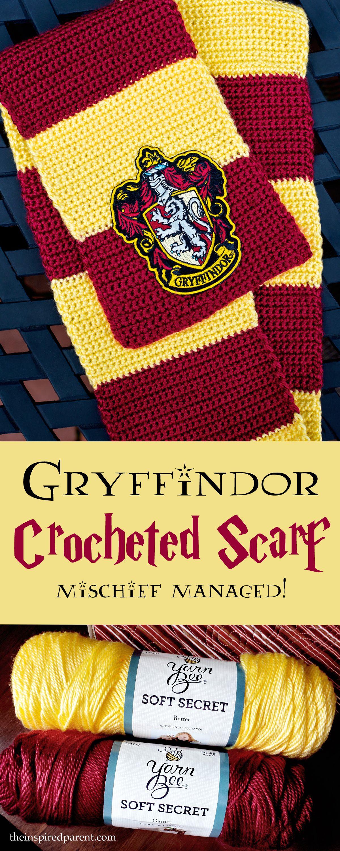 Gryffindor Scarf – Mischief Managed! | Häckeln, Häkeln ideen und ...