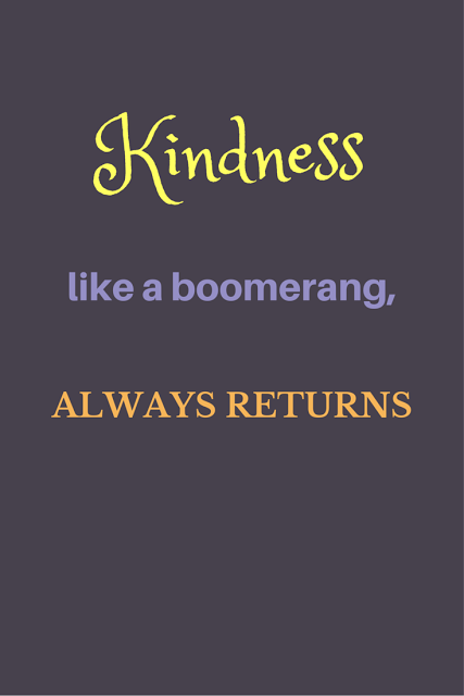 Inspirational Quote Kindness Like A Boomerang Always Returns