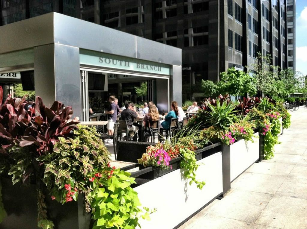 Outdoor Patio Dining Hospitality Design Of South Branch Tavern And Grille,  Chicago