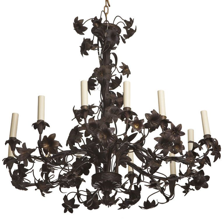 Large french black tole chandelier chandeliers pendant lighting large french black tole chandelier mozeypictures Image collections