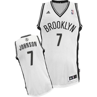 Joe Johnson Swingman In White Adidas NBA Brooklyn Nets #7 Men's Home Jersey