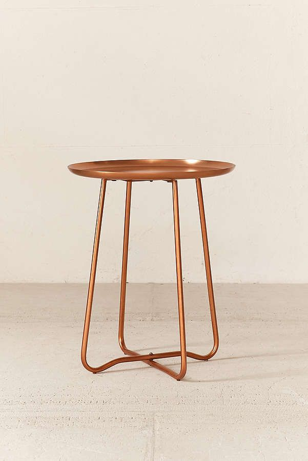 Slide View: 2: Blaire Metal Side Table