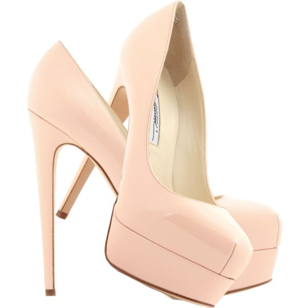 e40ba2024f0 Pink shoes Brian Atwood pale pink Hamper 150 Marilyn patent leather... ❤  liked