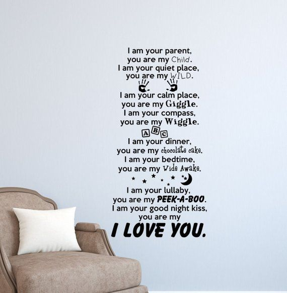 I am Your Parent Wall Decal-Nursery Wall Quotes-Kids Room ...