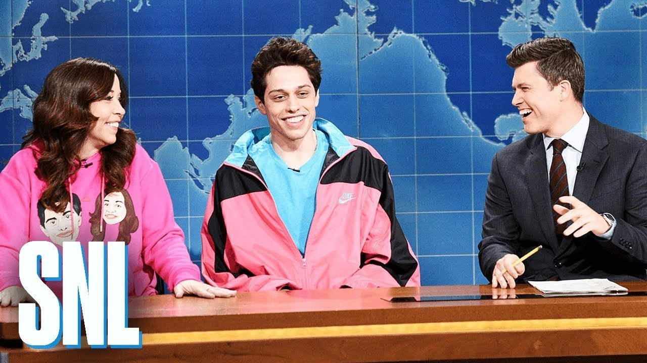 Weekend Update Pete Davidson on Living with His Mom SNL