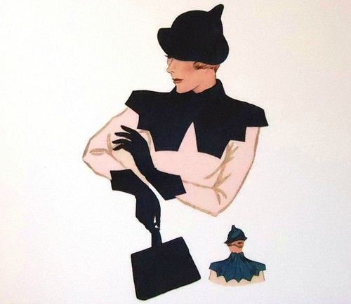 #H1353 - 1930s Ladies Hat, Gloves, Purse and Collar Ensemble Sewing Pattern