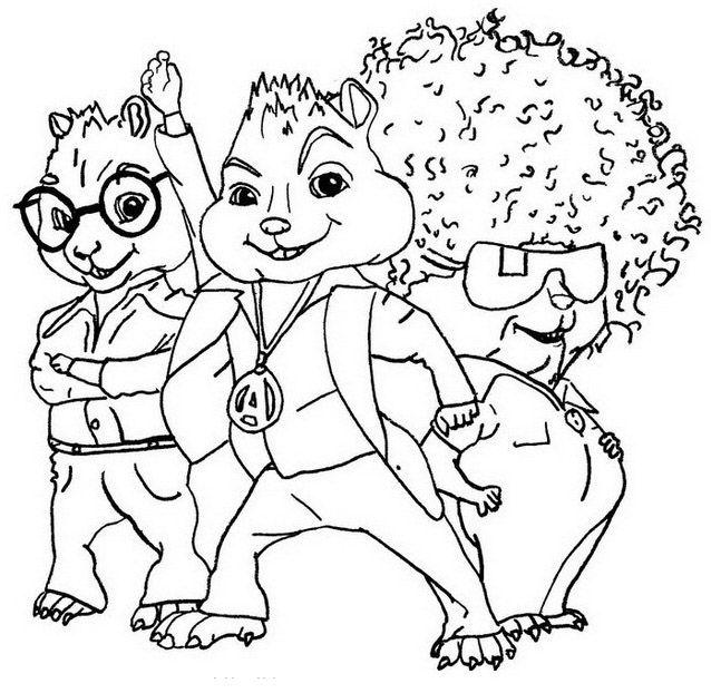 Pintar Alvin E Os Esquilos Paginas Para Colorir Da Disney
