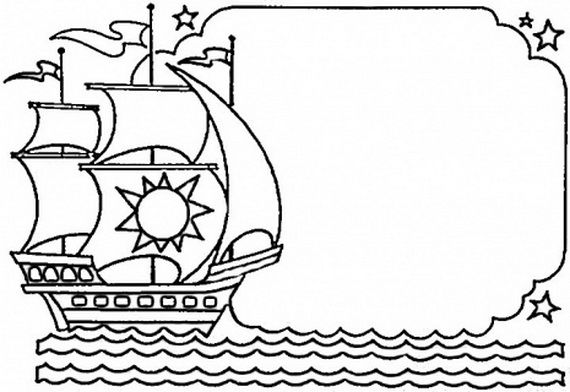 Columbus Day Ships Coloring Pages Classroom Helpers Kids