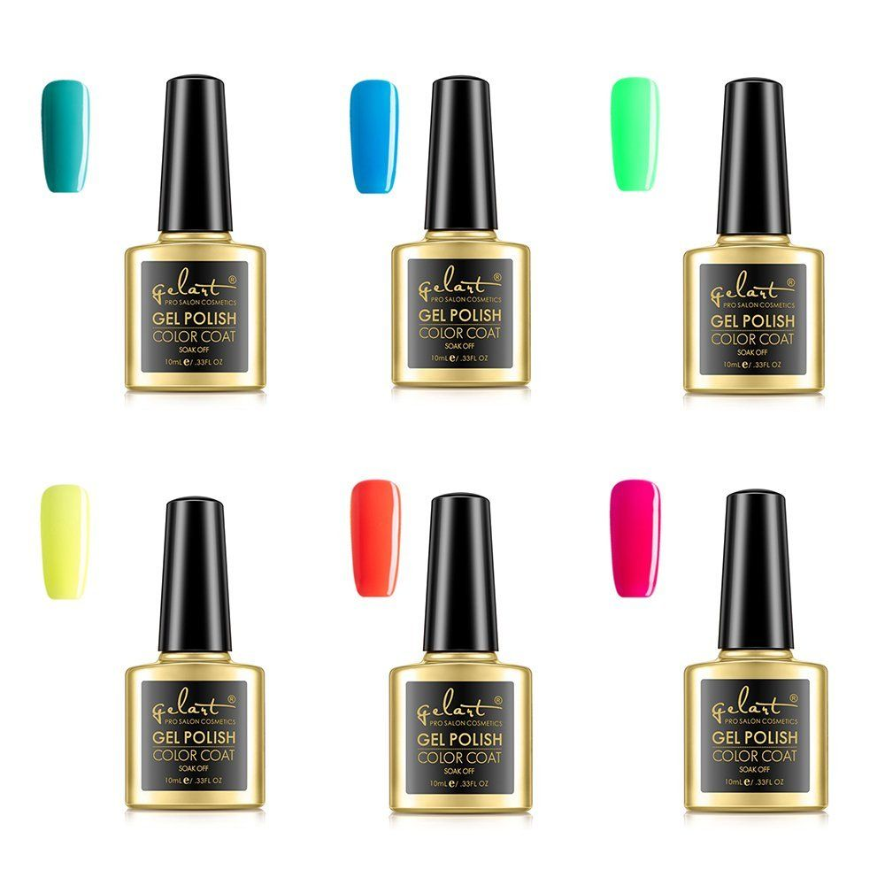 GELART LED Glossy Gel Nail Polish for Halloween 6 Pcs *** Want additional info? Click on the image.