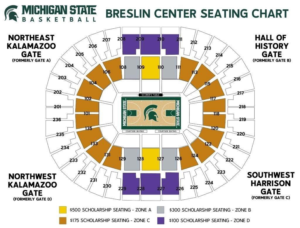 breslin center seating chart in 2020 Seating charts