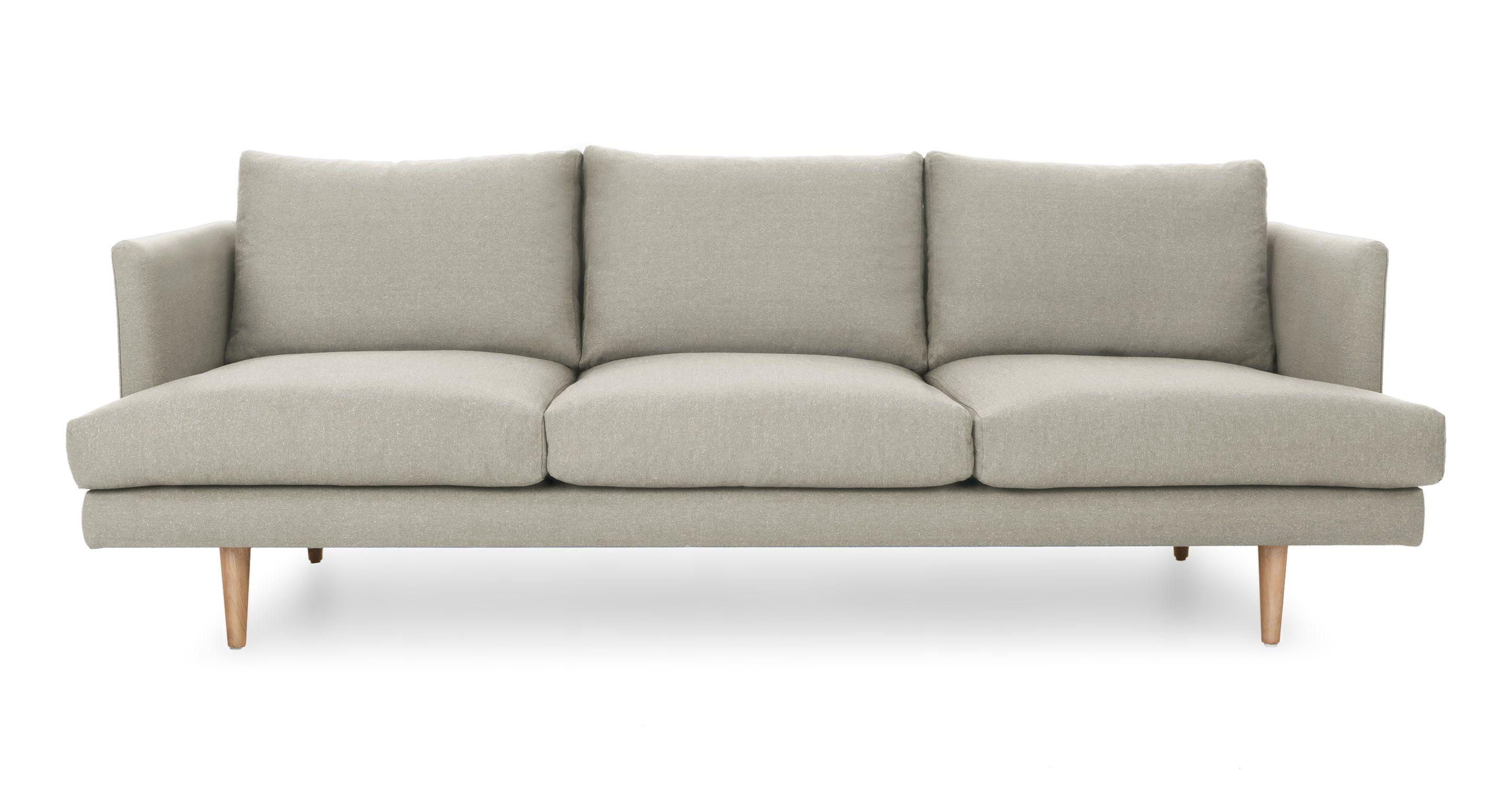 Carl Cobble Gray Sofa budget rooms for blog Pinterest