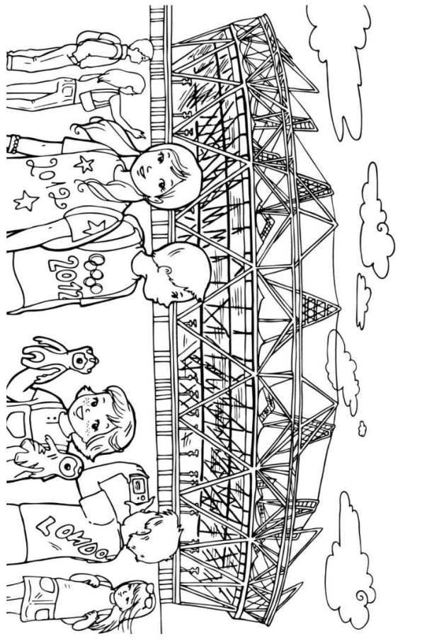 coloring page olympic games london 2012 olympic stadium