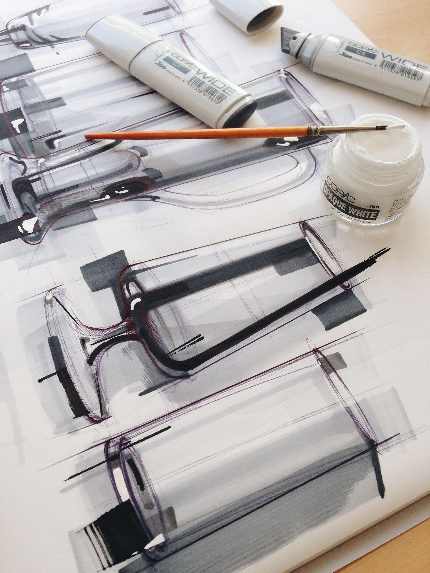 Industrial Design: Industrial Design Sketching And Marker Rendering Works