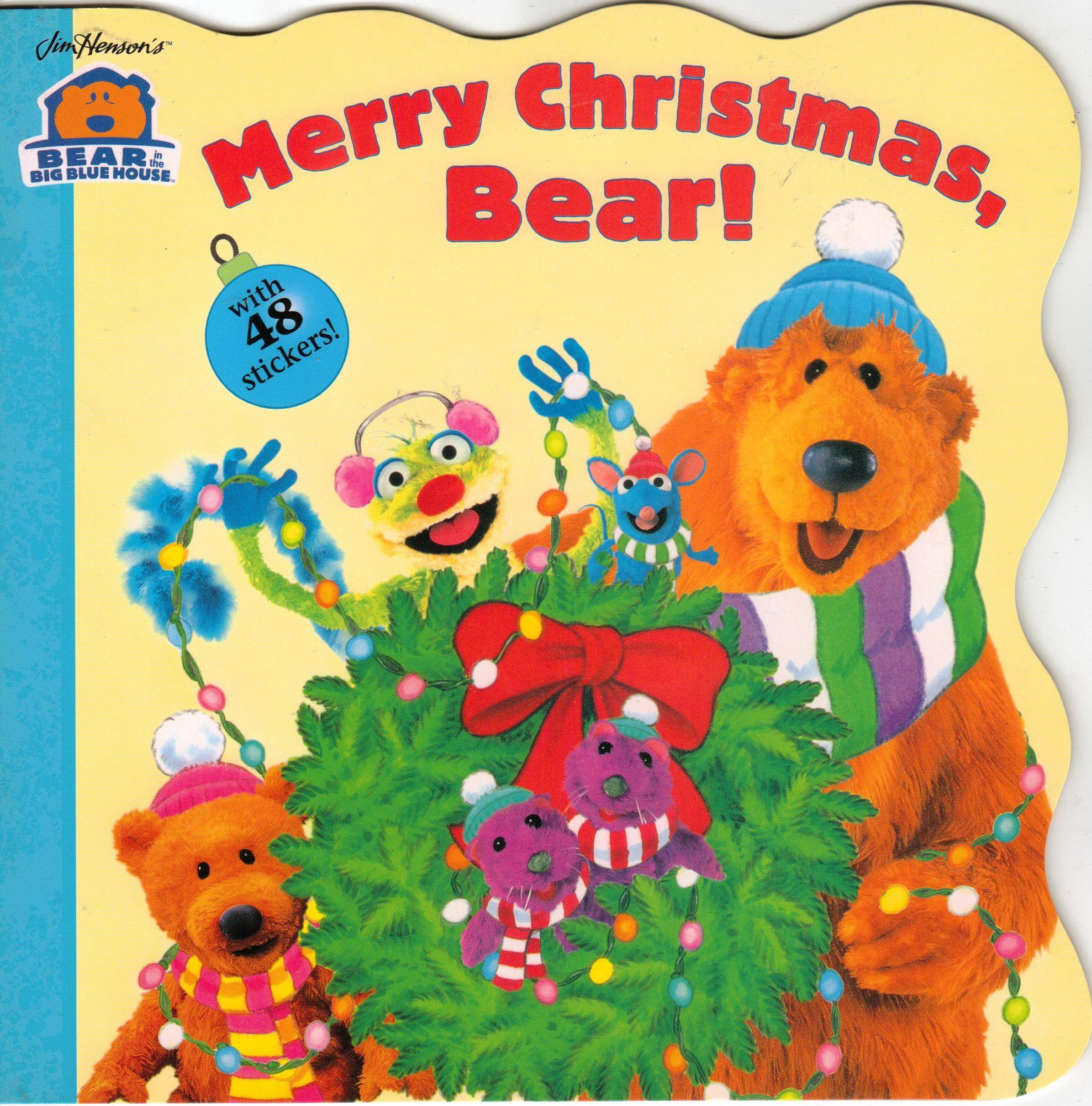 1999 Simon Spotlight Big Blue House Christmas Bear Christmas Books