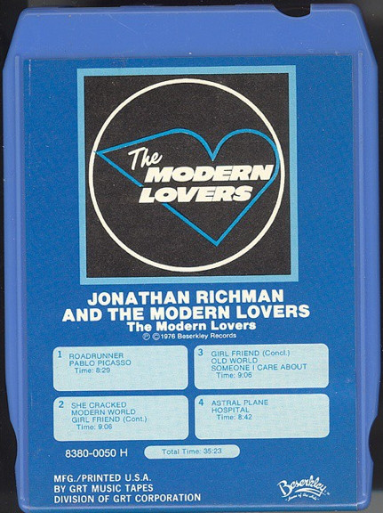 The Modern Lovers The Modern Lovers 8 Track Cartridge Album Discogs The Modern Lovers Lovers Modern