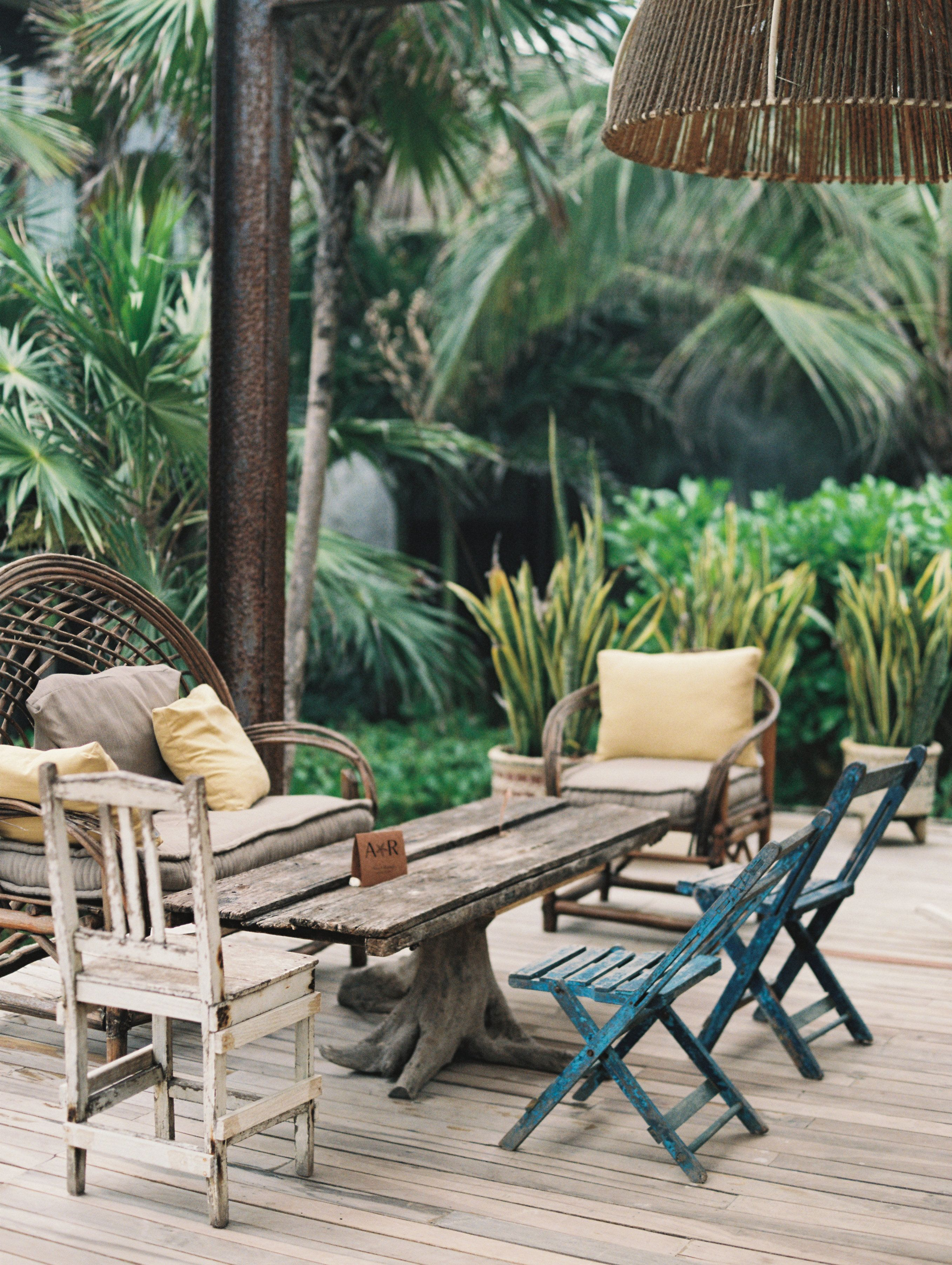Eclectic style at the beach