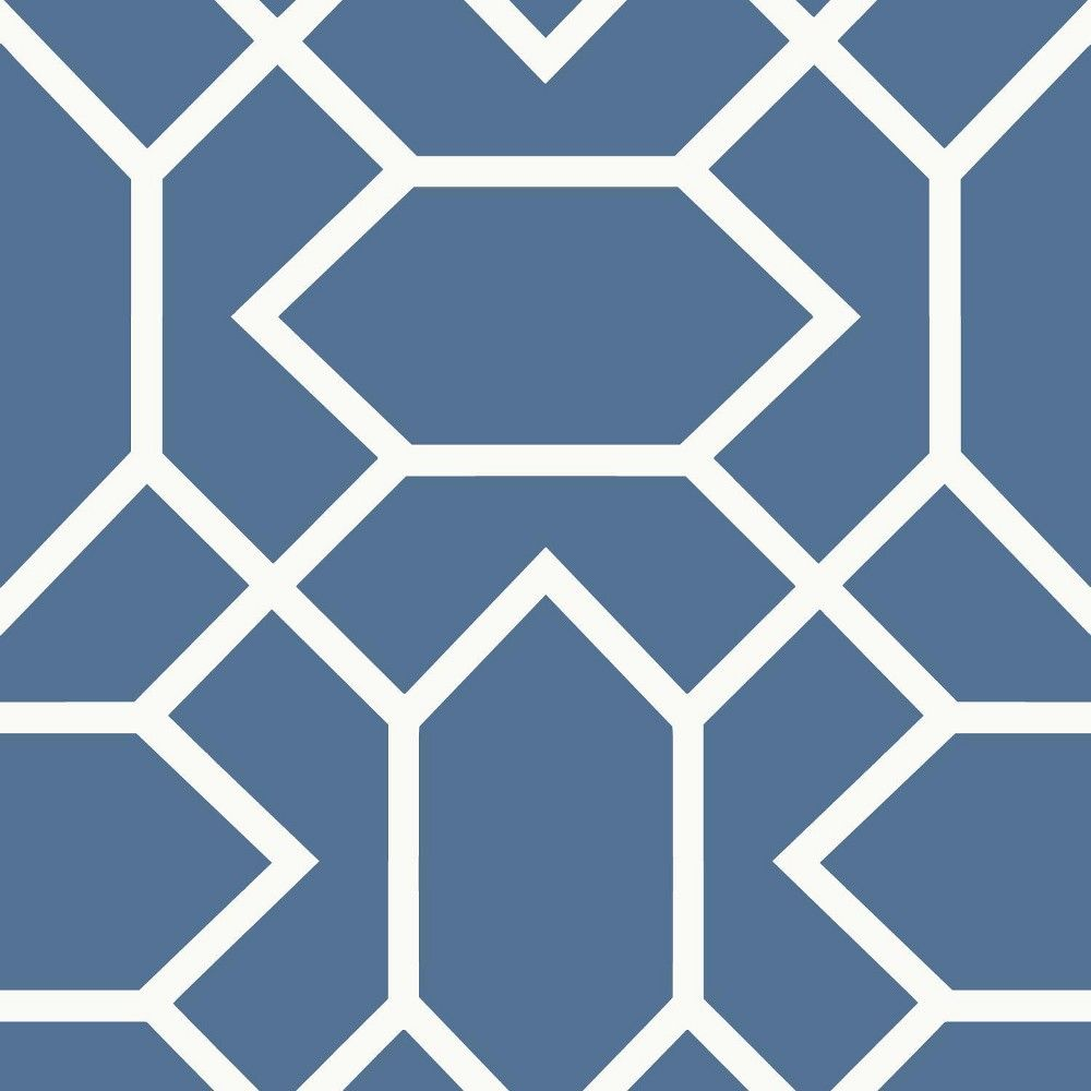 Roommates Modern Geometric Peel Stick Wallpaper Blue Peel And Stick Wallpaper Vinyl Wallpaper Wallpaper Roll