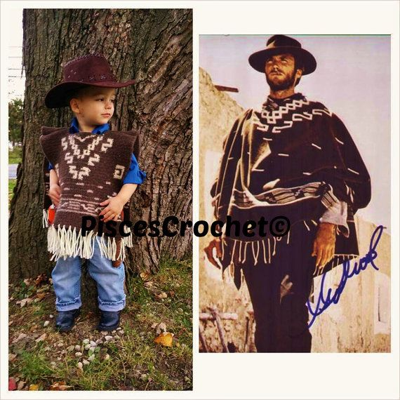 Child Poncho Crochet Pattern Western Cowboy Clint By Crochetverse