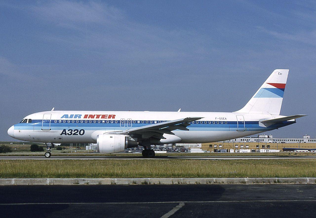 An Airbus A320100 (FGGEA) of Air Inter at ParisCharles