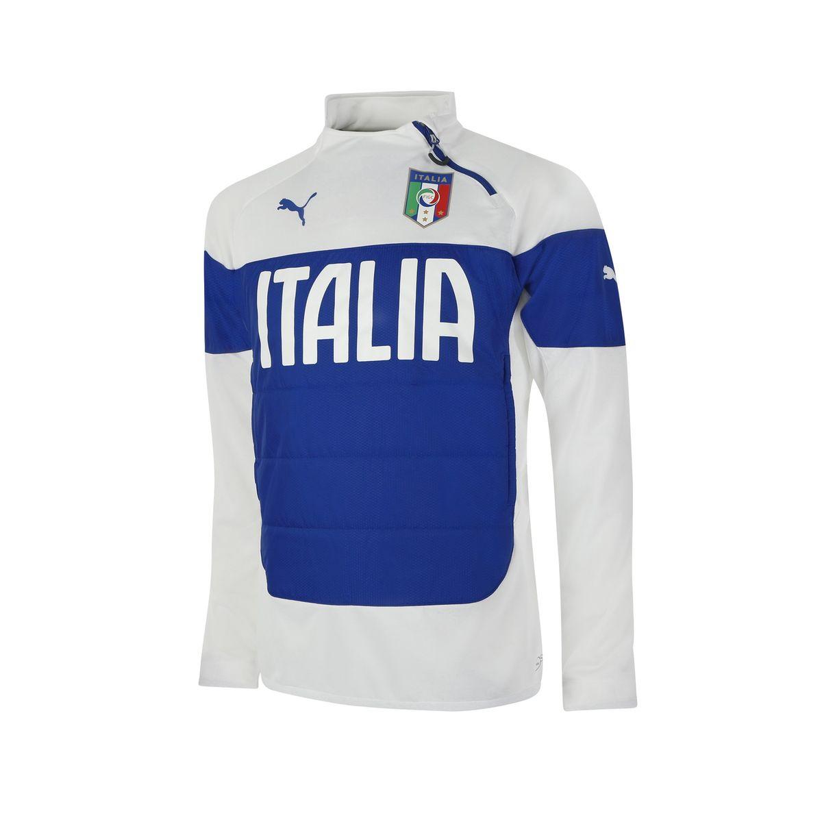 Training Top 1/4 Zip Italie | Short de foot,