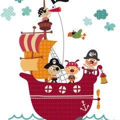 vinilos barcos piratas niños