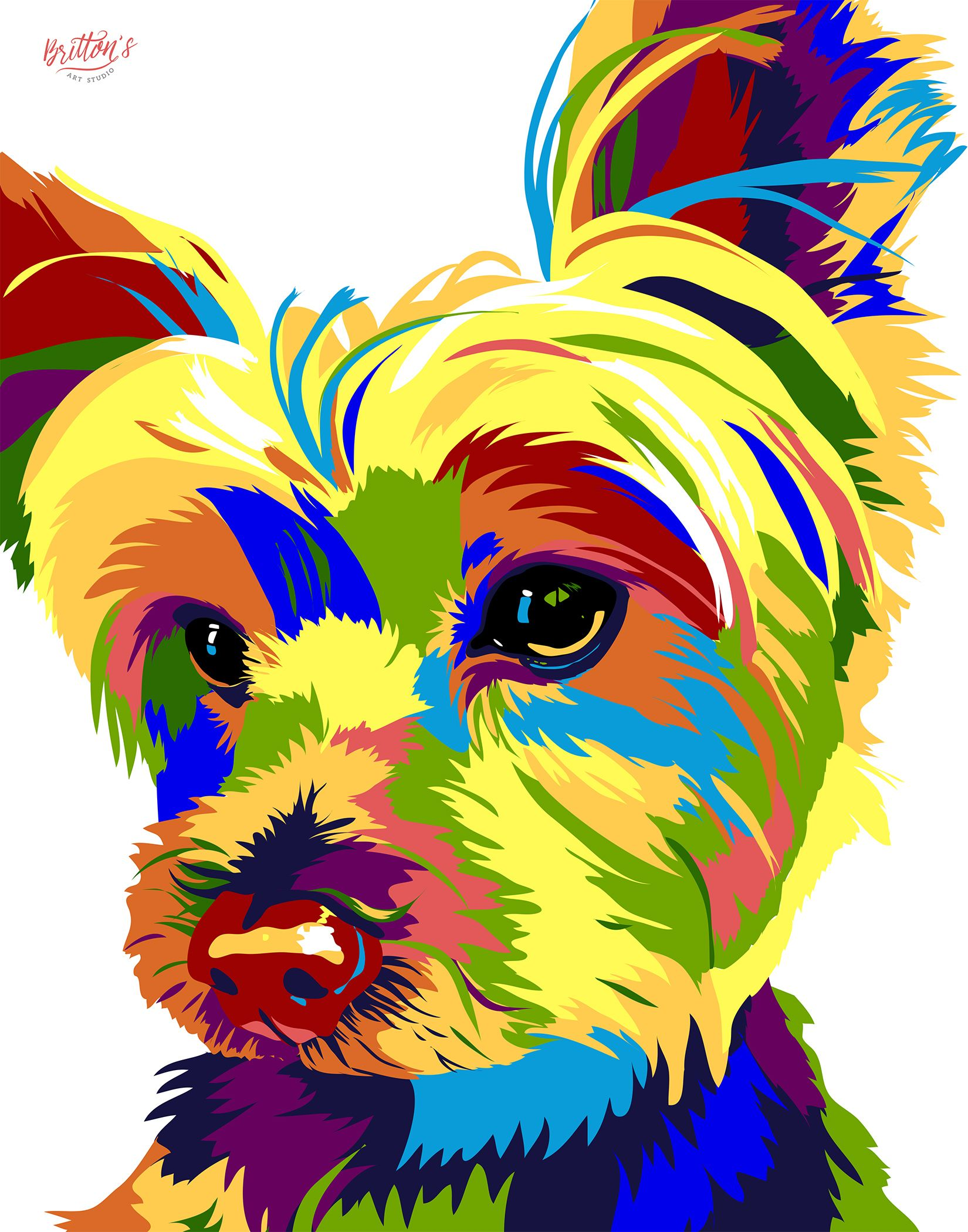 Pet Pixels Britton S Art Studio Amazing Art Painting Dog Portraits Art