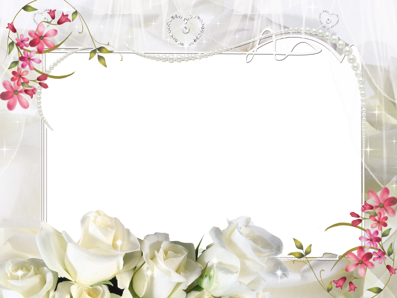 White Roses PNG Photo Frame (With images) Framed wedding