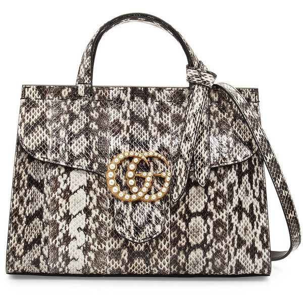 Gucci Gg Marmont Small Pearly Snakeskin