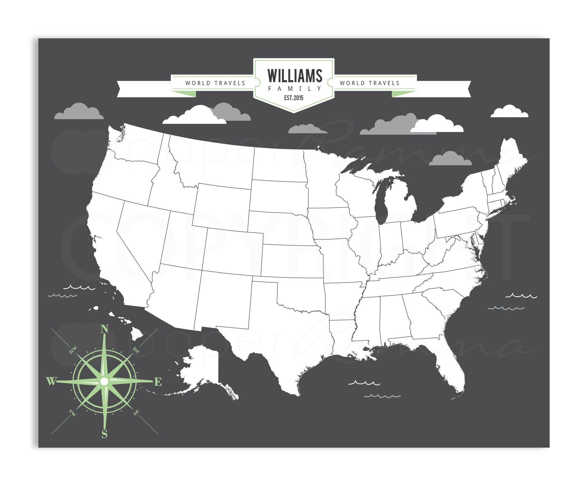 Modern USA Travel Map Travel Maps And Products - Interactive travel map of usa