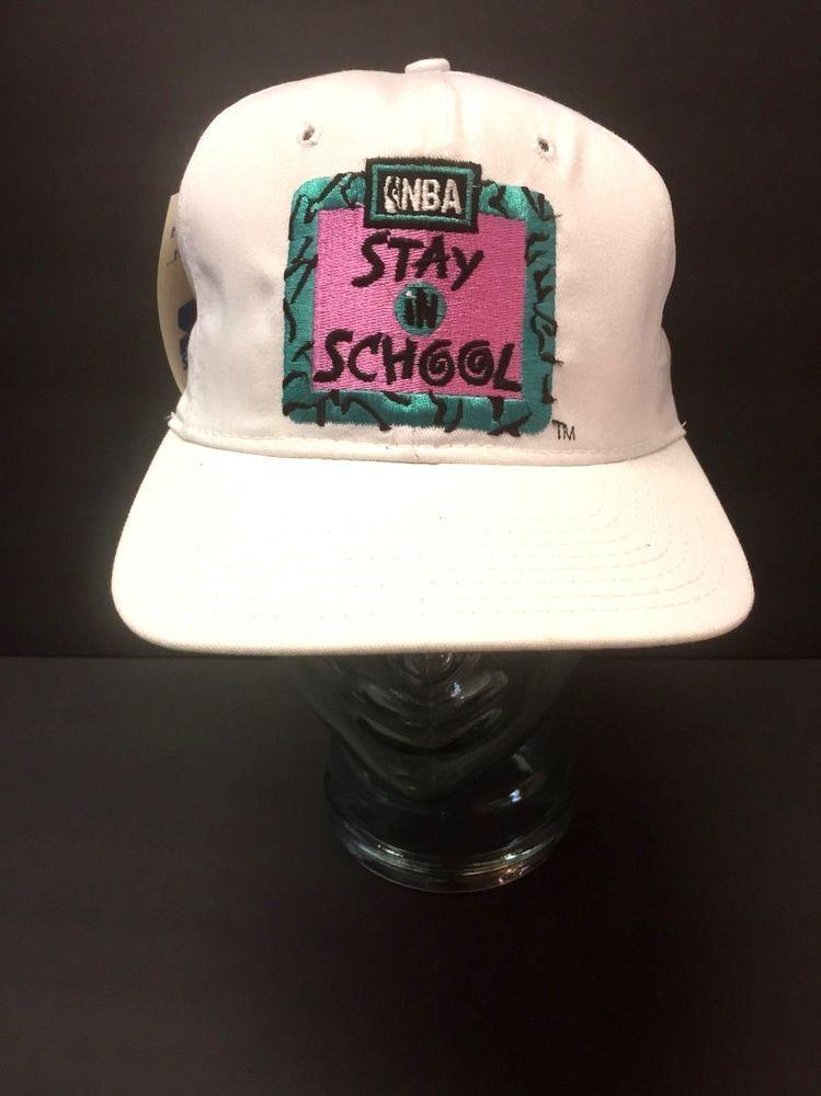 e5d6d4b6e02 STARTER 90 s Classic NBA Stay In School Snapback Hat Nestle Retro New w  Tags  NBA