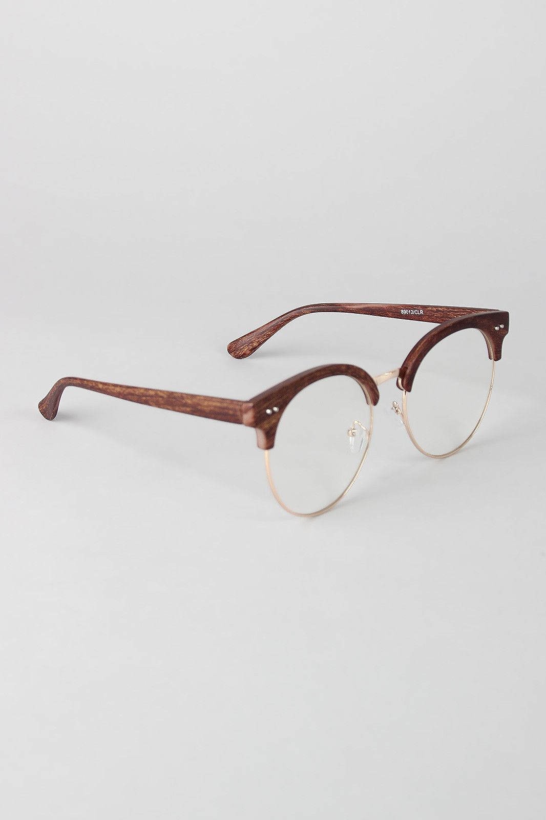 Faux Wood Horn Rimmed Glasses | Accessories | Pinterest | Horn ...