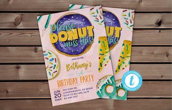 Donut Editable Template Templett Invitation