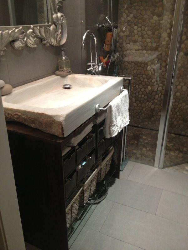 ba o con pila del lavabo de marmol recuperada se hizo un