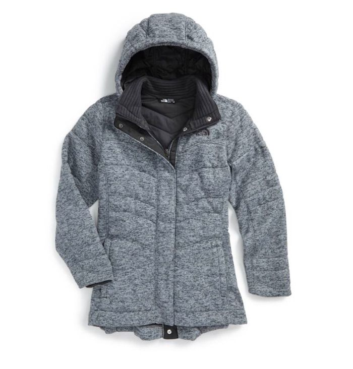 bc3371d3623e Warmest kids  winter coats  The North Face Indi 2 Hooded Knit Parka ...