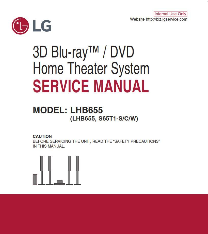 Lg Lhb655 Home Theater System Original Service Manual And Repair Instructions