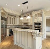 White Cabinets With Grey Glaze And Stainless Steel Appliances Lots