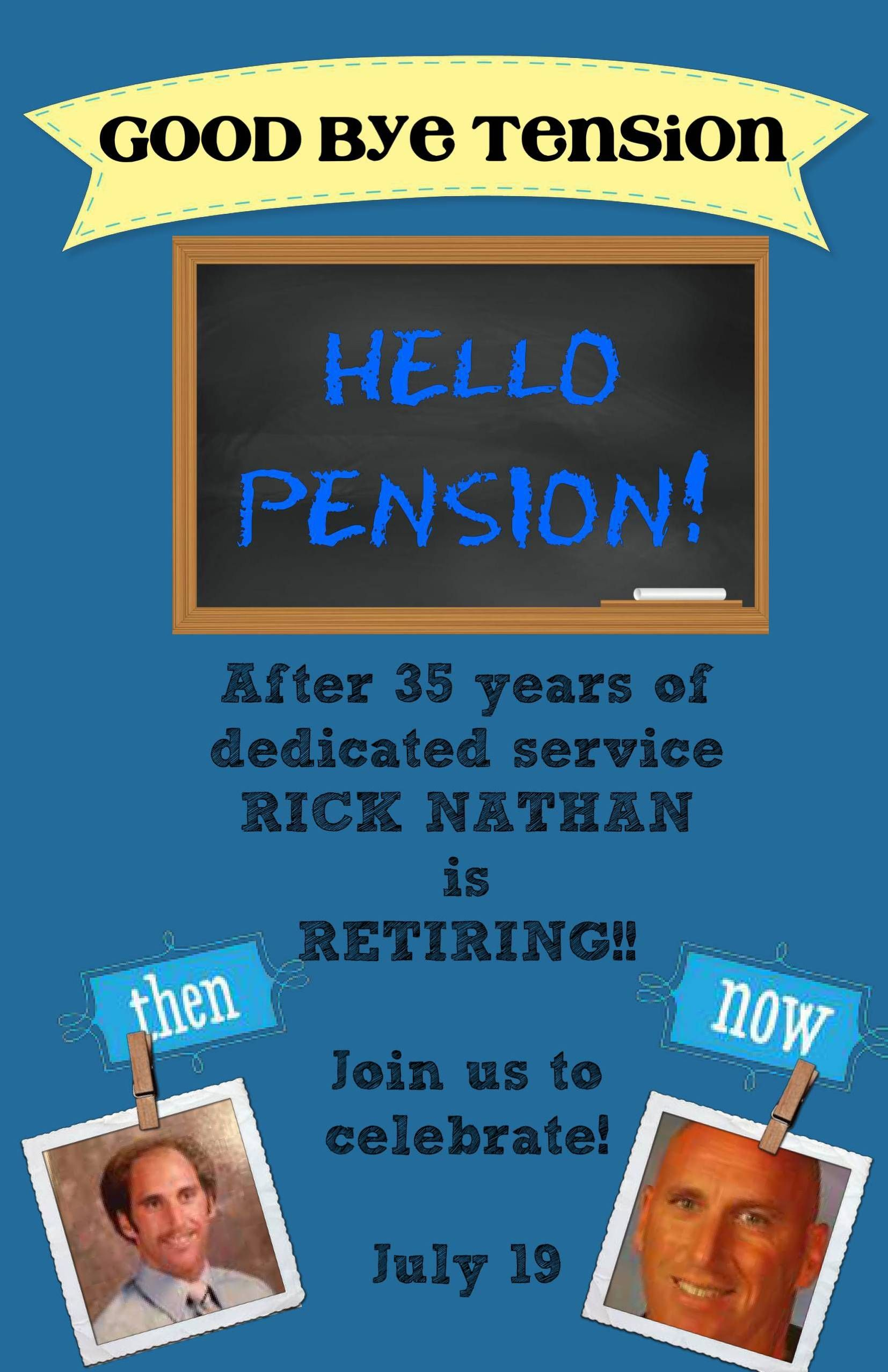 Helped a friend make retirement party invites - Get creative and ...