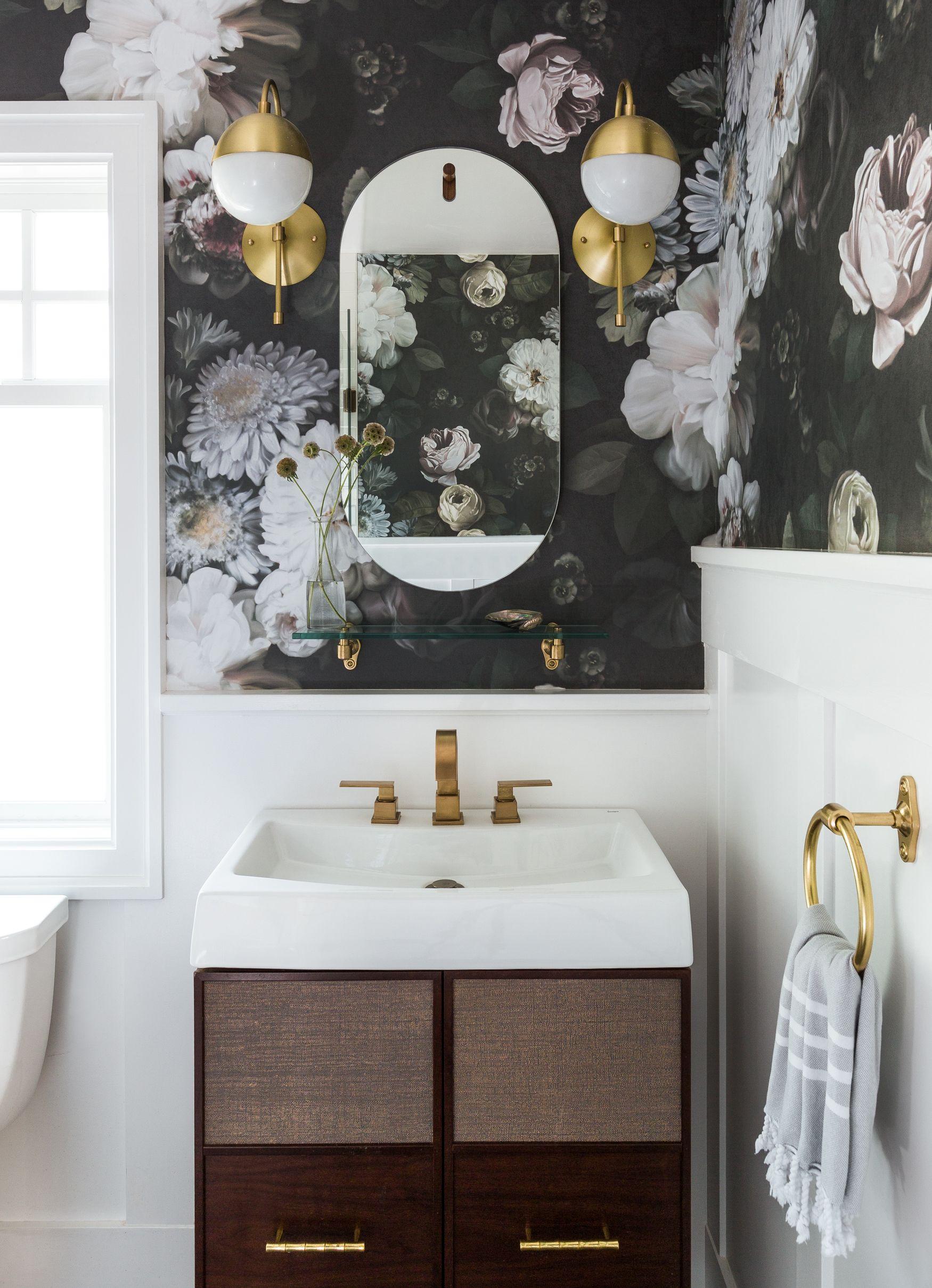 Leschi Four Square Renovation By Brio Interior Design Bathroom Wallpaper Half Bathroom Parisian Bathroom