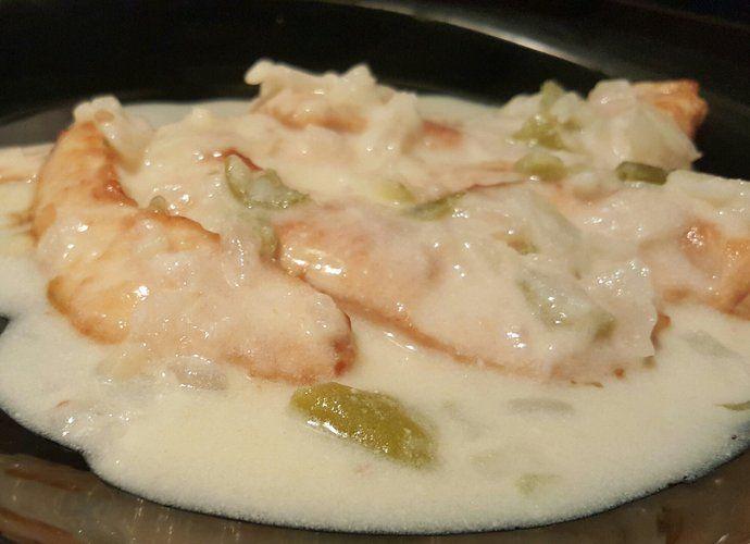 Pechugas de pollo con salsa de queso para #Mycook http://www.mycook.es/cocina/receta/pechugas-de-pollo-con-salsa-de-queso