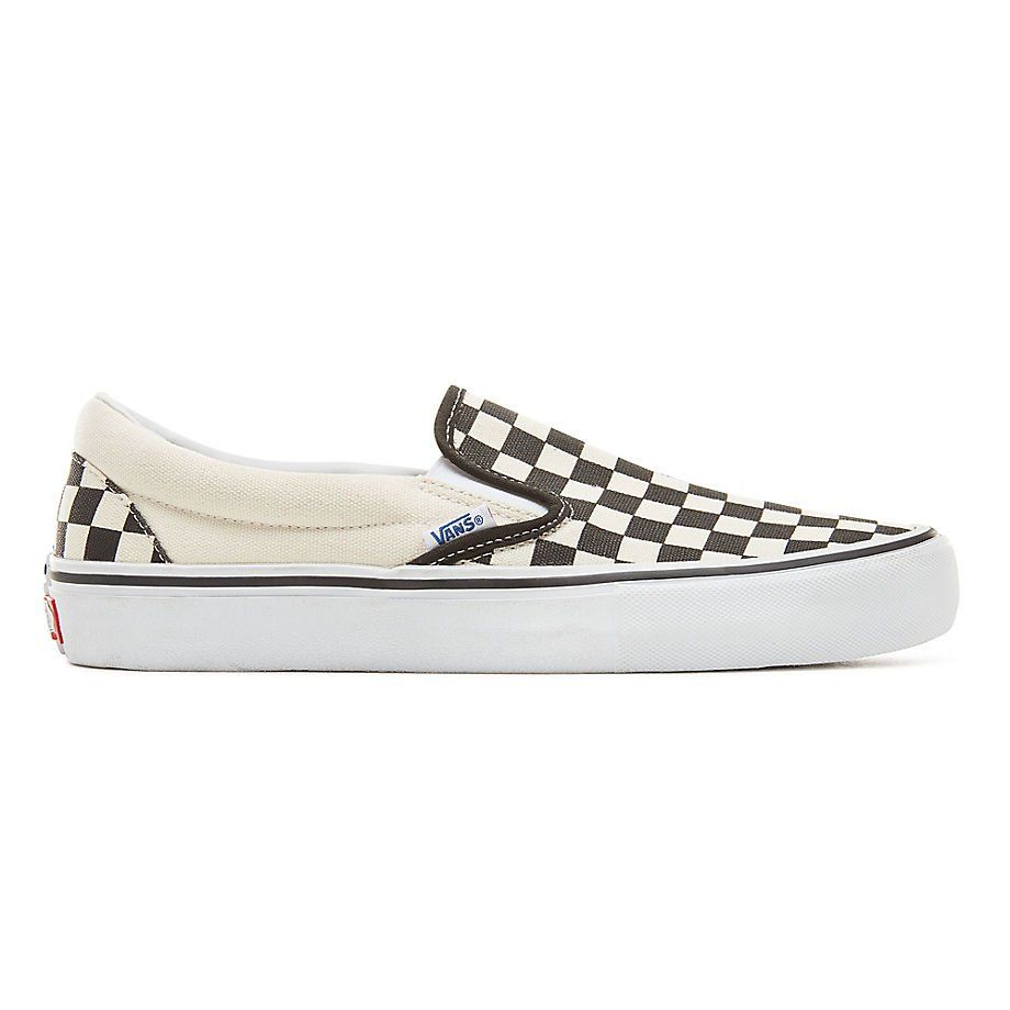 Vans Slip-On Pro Checkerboard Black/ White Shoes | Vans ...