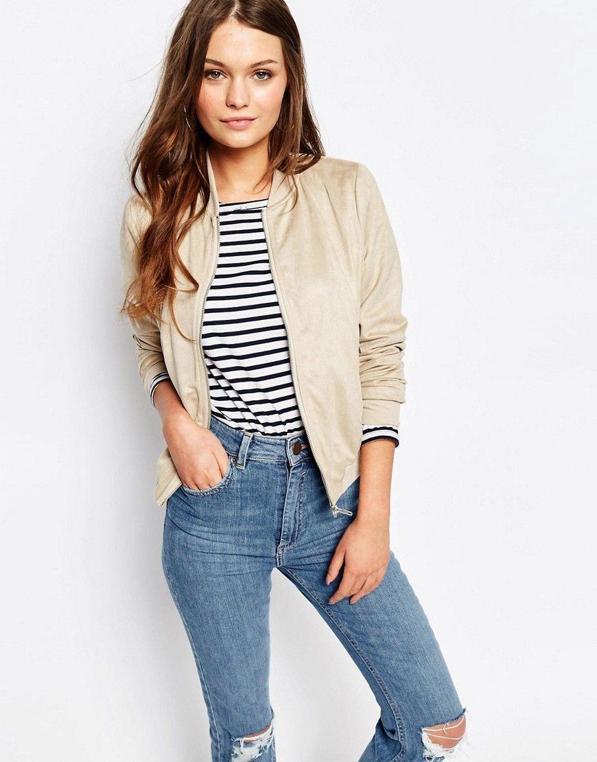 8422b625f New Look - Bomber en suédine | vêtements | Bomber Jacket, Fashion ...