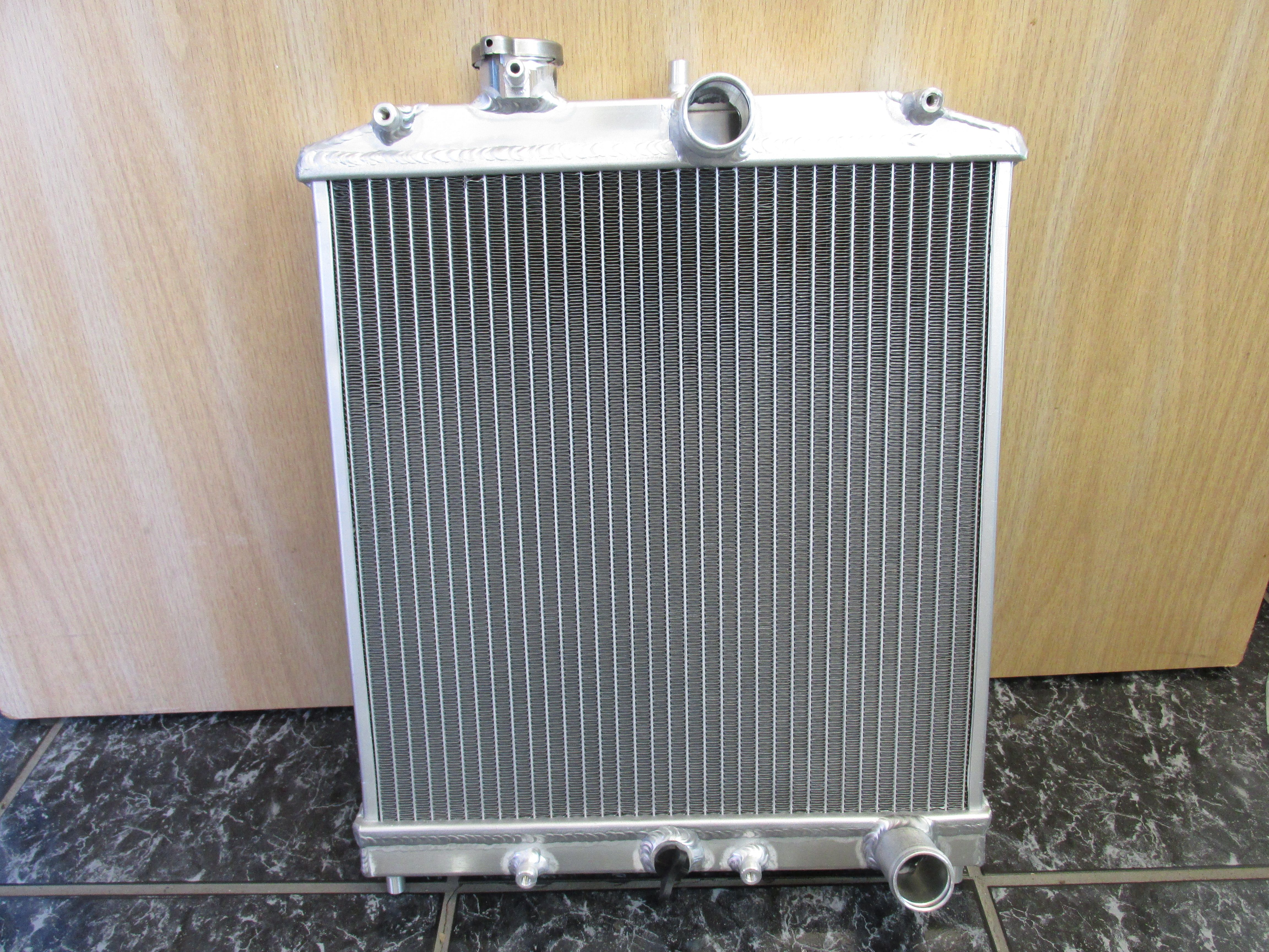 Aluminum dual core #radiator for #Subaru #conversion in Bay