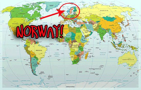 Norway World Map Compressportnederland